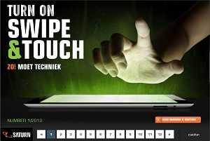 HTML5 swipe en touch magazine voor Saturn
