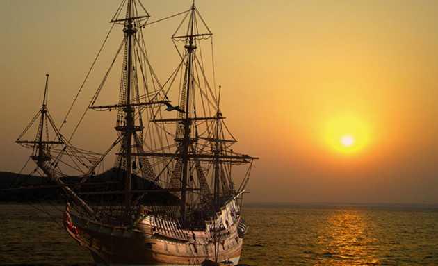 Witte matte verwijderen om vrijstaand schip