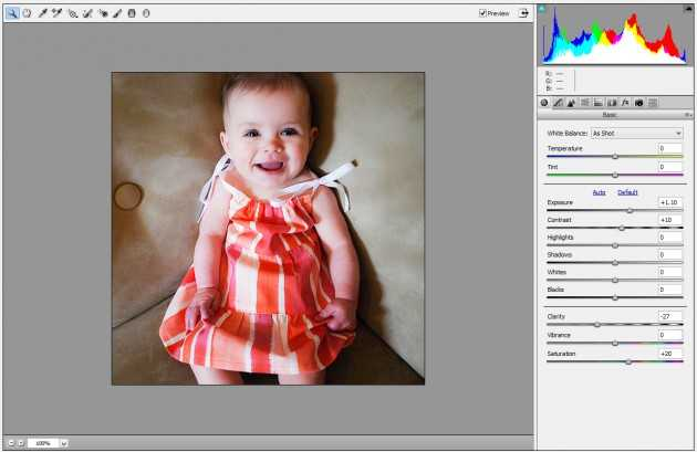 Camera Raw filter Photoshop baby 3