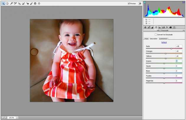 Camera Raw filter Photoshop baby 4
