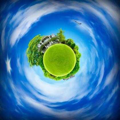 Little planet maken Photoshop 5