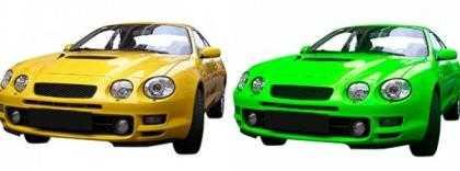 auto snel omkleuren