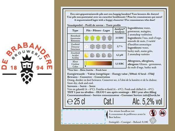 Opmaak bierlabels Brouwerij de Brabandere