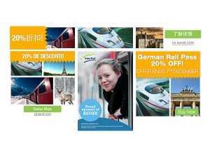 Doeltreffende banners voor Eurail.com