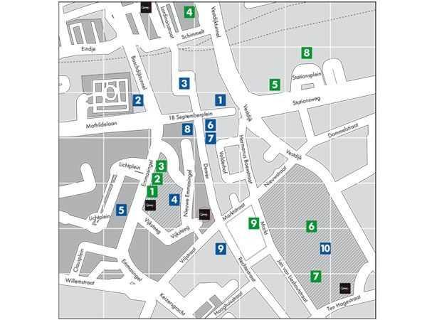 Opmaak en vectoriseren Q-Park plattegronden