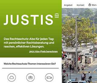 Justis screenshot website