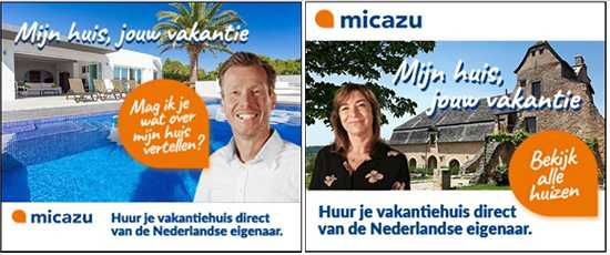 Online banners for the Micazu campaign of Klein + Klein